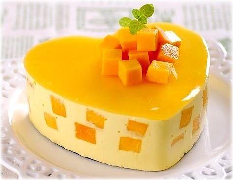 Chinese mango mousse cake recipe