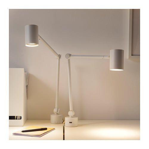 Nymane Lampa Biurkowa Scienna Bialy Kupuj Dzisiaj Ikea Wall Lamp Wall Lamps Diy Lamp