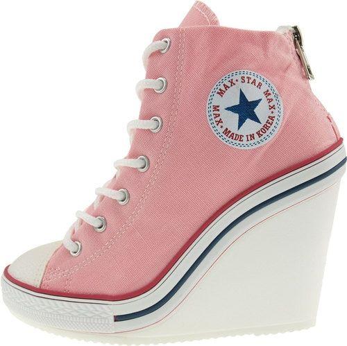 heels, Wedge heel sneakers