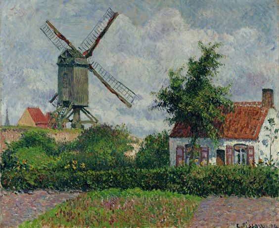 """""""The Windmill At Knokke,""""Camille Pissarro, 1894"""