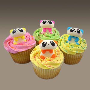 Panda kawaii cute cupcakes