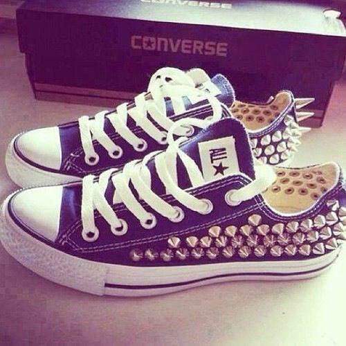 converse w/ studs