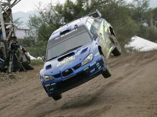 Subrau impreza WRC rally car