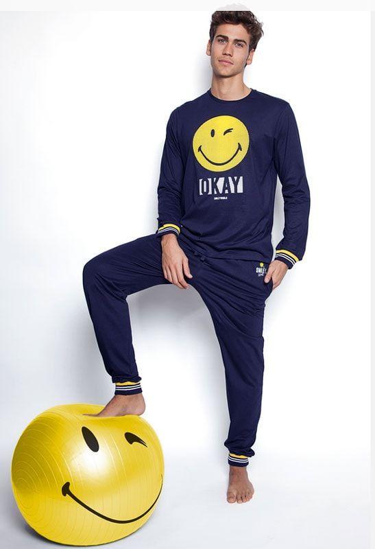 Smiley Pijama Manga Larga Numerous para Hombre