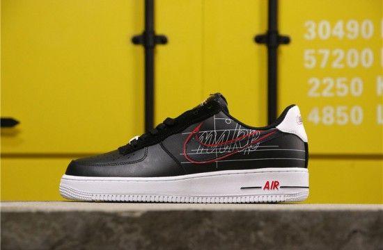 Acelerar Ortografía Destello  Nike Air Force 1 Low Script Swoosh Black   Nike air force, Air force, Nike  air