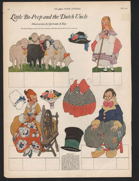 Ladies Home Journal 1923 Little Bo Peep and the by ForRealSunyata: