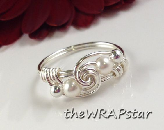 Bridesmaid Ring Wire Wrapped Jewelry Handmade Maid by theWRAPstar