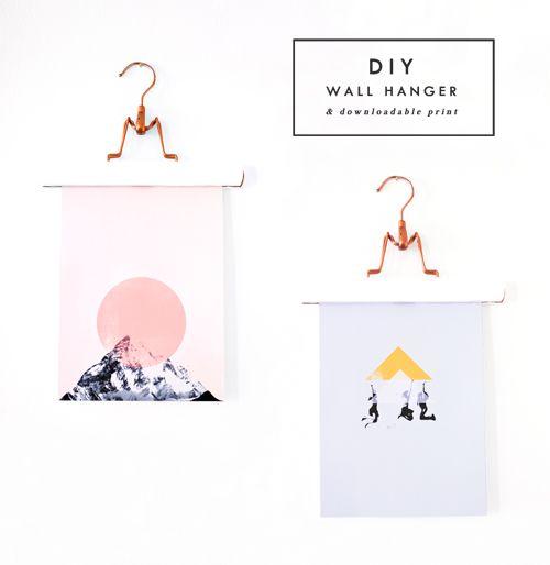 diy poster hangers