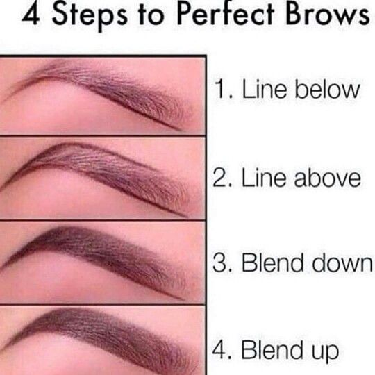 4 steps to perfect eyebrows