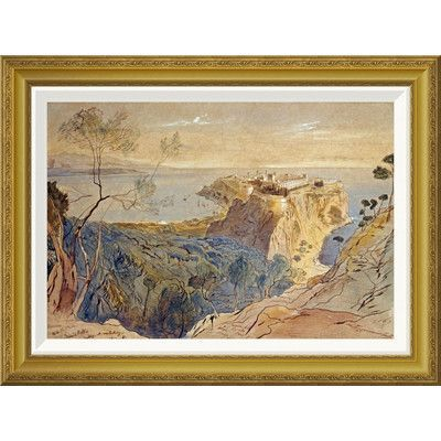 Global Gallery 'Monaco' by Edward Lear Framed Painting Print Size:
