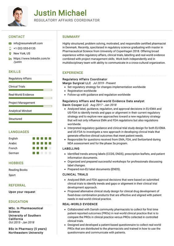 100 Professional Resume Samples For 2020 Resumekraft Regulatory Affairs Project Manager Resume Management Skills