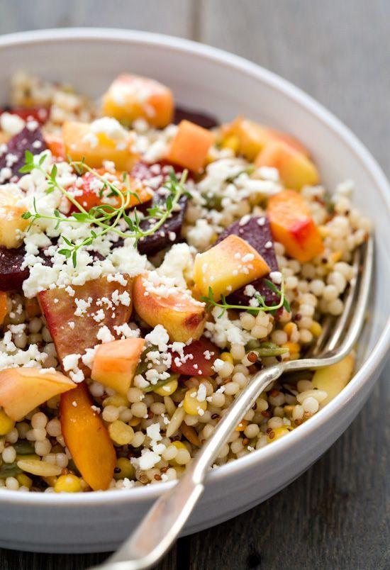 Peach and Roasted Vegetable Salad - yum!