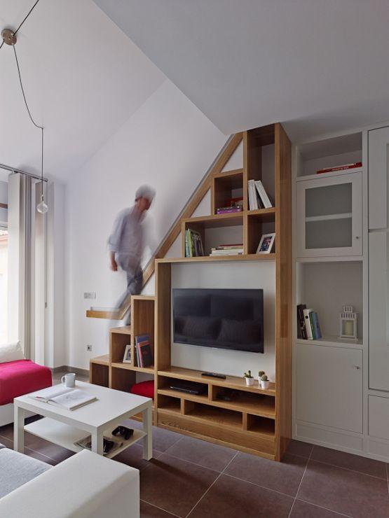 Soluciones almacenamiento mueble doble funci n inspiraci n for Decoracion escaleras duplex