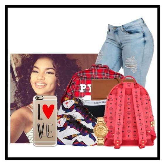"""""""I Heart You"""" by brooklyn-taylor-ford ❤ liked on Polyvore featuring Pyrex, MICHAEL Michael Kors, Topshop, MCM, Versace and Casetify"""