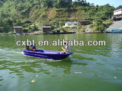 Dc12v 24v motor plastic fish pond boat manufacturer buy for Small fishing boats for ponds