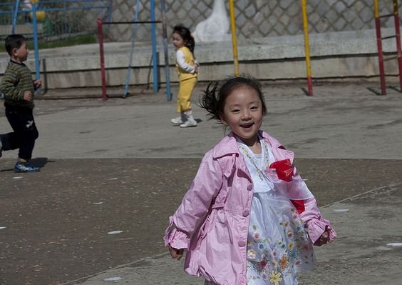 Little girl in Kwangbok school, Pyongyang North Korea by Eric Lafforgue, via Flickr