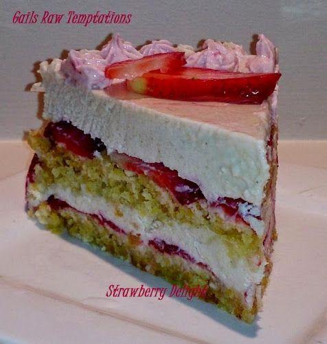 Raw Strawberry Shortcake