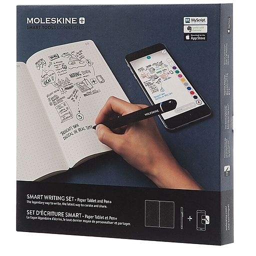 Moleskine Smart Writing Set Paper Tablet And Pen 851152 Black Each Staples Moleskine Tablet Smart Pen