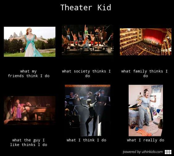 Theater kid - What people think I do, What I really do