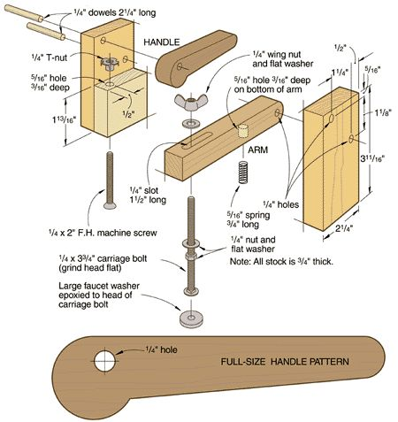 Woodworking vise, The one and Make your own on Pinterest