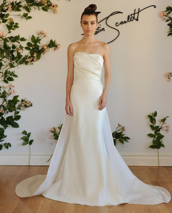 Austin scarlett shows modern wedding dresses for fall 2016 for Austin wedding dresses