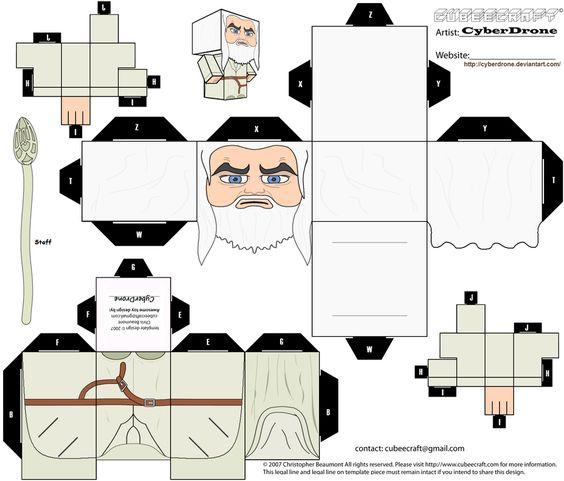Papercraft senhor dos anéis
