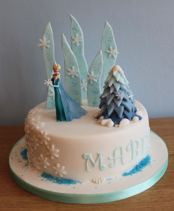 Decorating Ideas > Little Love Cakes  Frozen Elsa Cake  Cake Decorating  ~ 140939_Elsa Cake Decoration Ideas