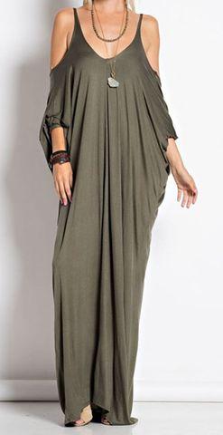 Long Batwing Dress