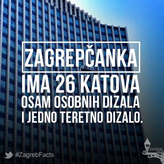 Neboder je dovršen 1976. godine po projektu arhitekata Slavka Jelineka i Berislava Vinkovića. Izgled nebodera inspirian je neboderom Thyssenhaus u Düsseldorfu. #ZagrebFacts #Zagreb #ZG #Agram #Zagrepcanka #Savska