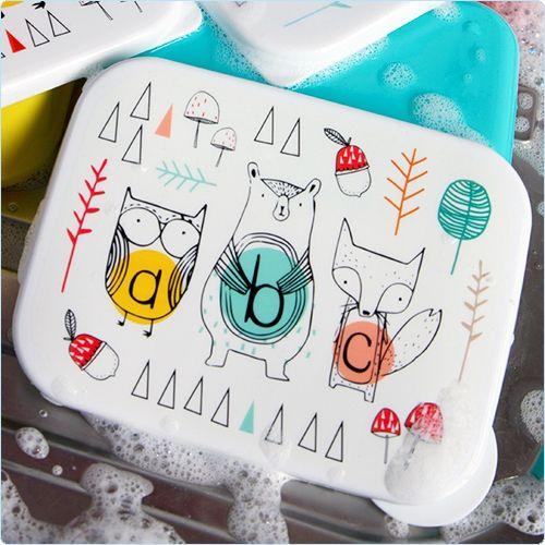 Bunte Lunchbox mit Aufteilung 15x11  - Sass & Belle - www.lolakids.de
