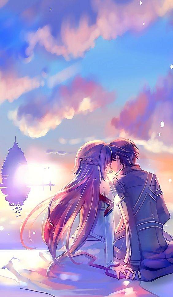 Sword Art Online, Asuna + Kirito, by naruse chisato: