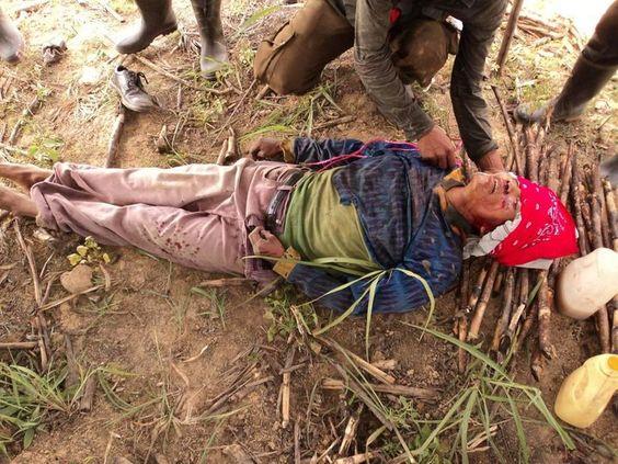 Maya asesinado por la policía guatemalteca