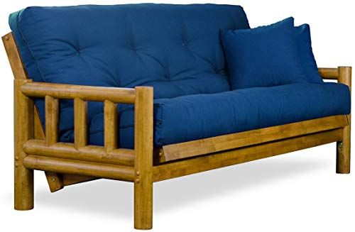New Rustic Tahoe Log Queen Size Wood Futon Frame Heritage Finish