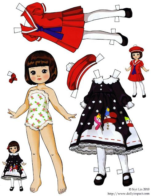 folding tabs: Paper dolls by Siyi Lin: