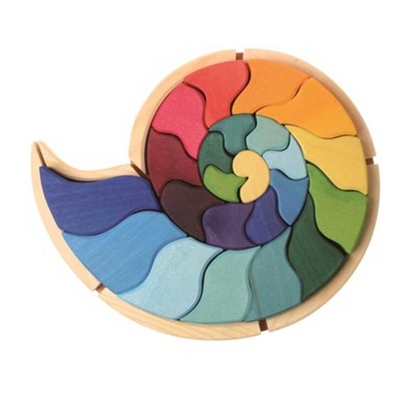 Puzzle caracol - juguetes creativos de madera