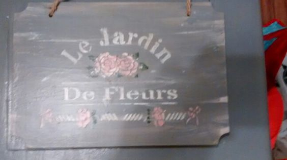 A plaque I painted + stencilled.