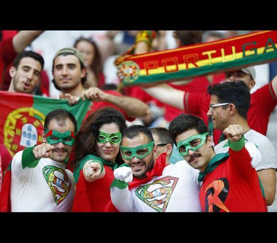 A bonita festa da final do Euro em imagens