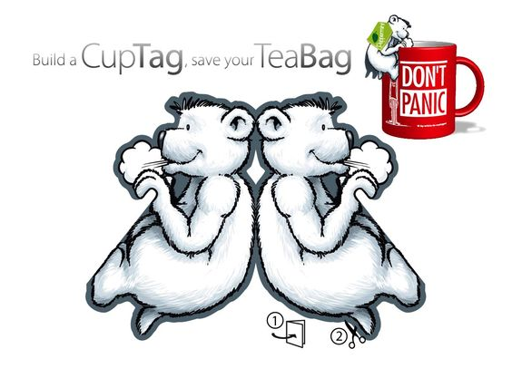 Bastelbogen für alle Tee-Trinker, der bärenstarke Teebeutel Halter. Laden, Ausdrucken, Ausschneiden! ;-)