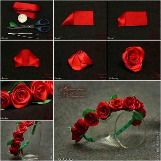 How to DIY Pretty Satin Ribbon Flower Hairband | iCreativeIdeas.com Follow Us on Facebook --> https://www.facebook.com/iCreativeIdeas:
