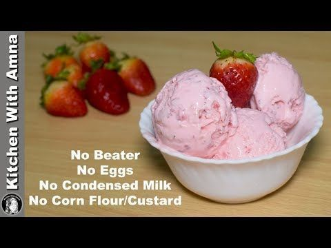 Pin By Affaf Khan On Homemade Ice Cream In 2020 Strawberry Ice Cream Recipe Ice Cream Recipes Strawberry Ice Cream