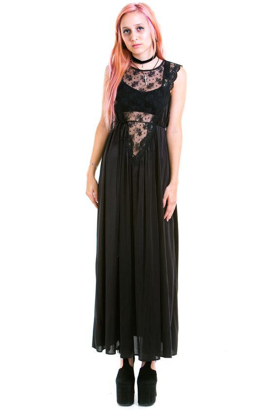 The Silent Siren Slip Dress - XS/S/M