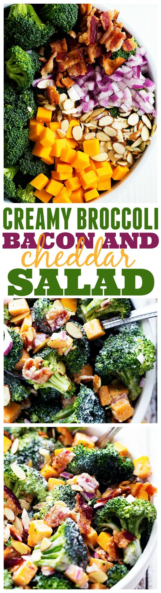 Broccoli Salad you will make! Perfect with the added bacon, cheddar ...