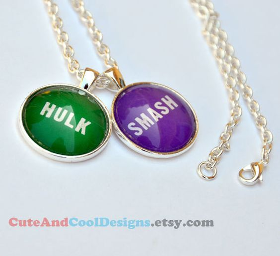 Hulk Smash  Pendant Necklace by CuteAndCoolDesigns on Etsy, $10.95