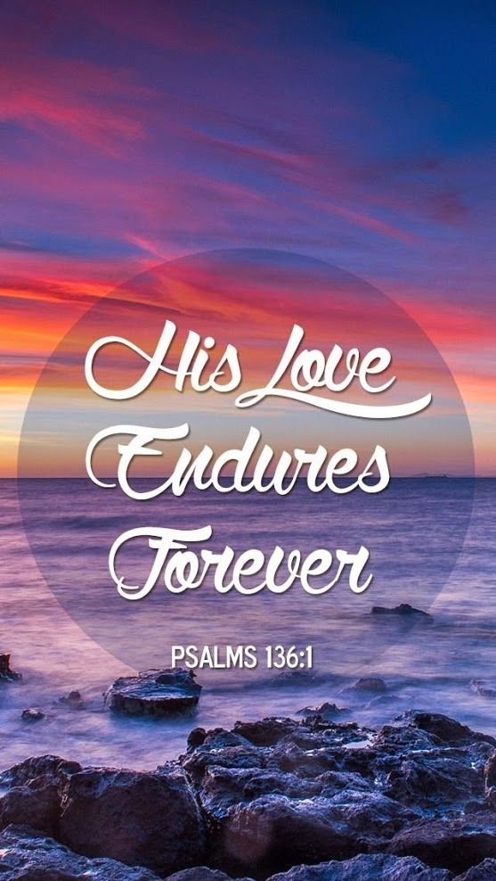 His Love Endures Forever! :)