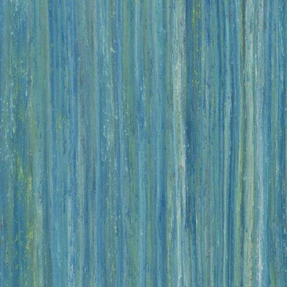 Forbo Linoleum Striato Colour 5243 peacock blue
