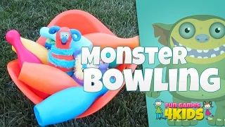 Fun Monster Bowling Game www.fungames4kids.club