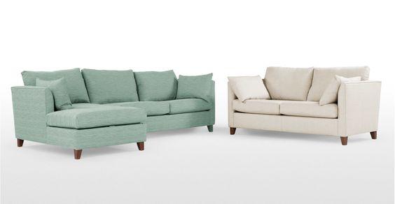 Bari, canapé d'angle gauche avec compartiment de rangement, bleu mentholé…