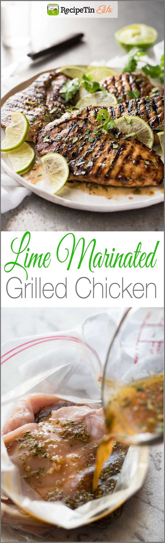Lime Marinated Grilled Chicken - Lovely depth of flavour in this simple marinade that REALLY infuses the chicken with lime flavors!