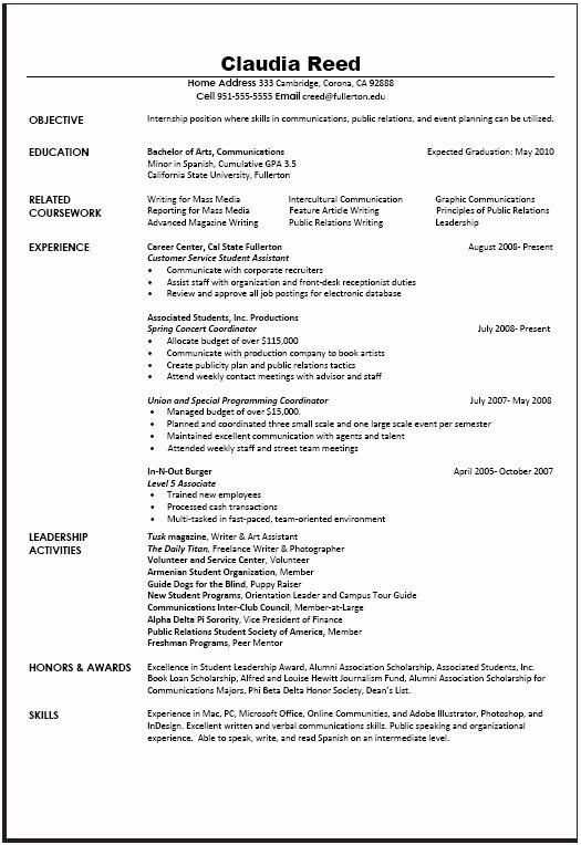 Examples Of Communication Skills For Resume Awesome Munications Resume Sample Career Center In 2020 Resume Skills Resume Examples Sample Resume