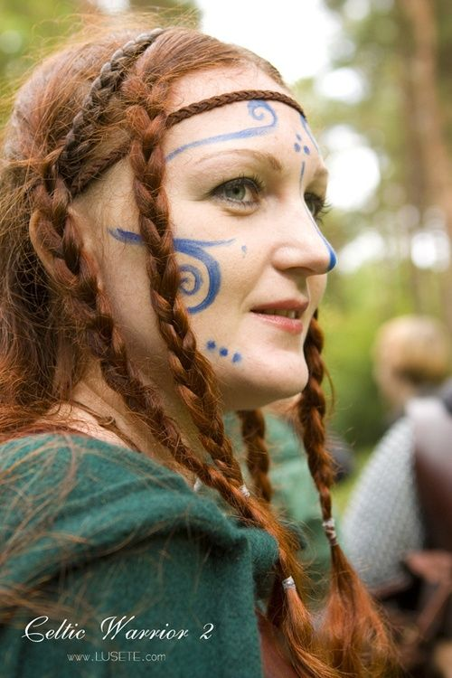 Boudica Braids Painted Face